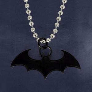 Batman - Fledermaus Anhänger schwarz inkl. Kette