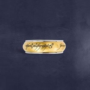 Der Eine Ring - Rotierend, im Schmuckdisplay, gold bei The Noble Collection