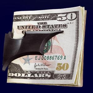 Batman - Batarang - Geldklammer - satiniert